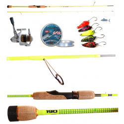 Kit Trout Area Canna Theya 1.90Mt + Mulinello Kaya 2000 + Accessori
