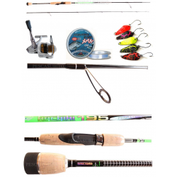 Kit Trout Area Canna Wachiwi 1.95Mt + Mulinello Kaya 2000 + Accessori