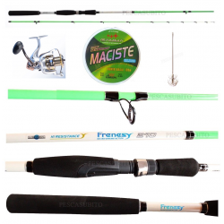 Kit Pesca Calamari Canna Frenesy 2.10Mt + Mulinello Hesperus 4000 + Accessori