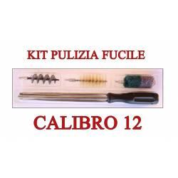 Kit Pulizia Fucile Calibro 12