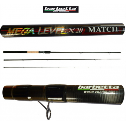 Canna Inglese Barbetta Mega Level x20 Match 4.50m Az.25g