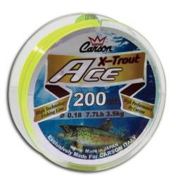 Monofilo da Pesca Trota - Carson Ace Giallo Fluo 200Mt