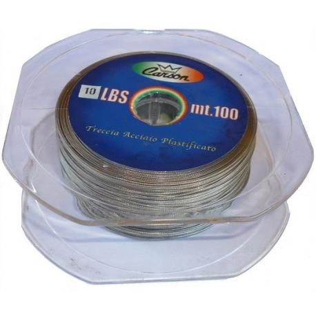 10kg filo terminali luccio serra spinning cavetto acciaio morbido da pesca 5m