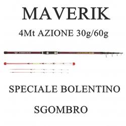 Canna Maverik 4m 30/60g Bolentino 2 Cimini Intercambiabili