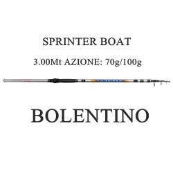 Canna Sprinter 3m Azione 70/100g Pesca Bolentino