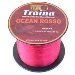 Filo Ocean Rosso Traina Tonno Big Game - 1000Mt 50Lbs