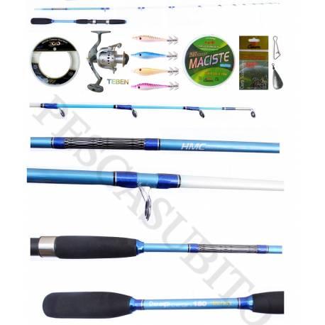 Kit Pesca Tataki Canna Slow Jigging e Calamaro - Deep Ocean