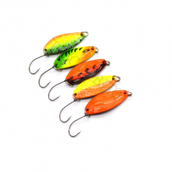 Kit 5 Spoon 4.5g Ondulanti Pesca Trota Trout Area Game