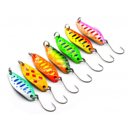 Kit 7 Spoon 3.5g Ondulanti Pesca Trota Trout Area Game