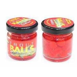 Esca per Trota Palline Galleggianti - Rosso - Trout Balls