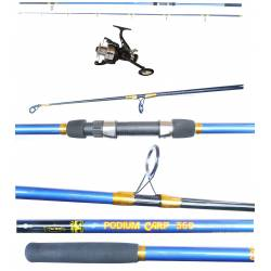 Kit Canna Carpfishing + Mulinello / Globe Fishing Podium Carson Flash Runner