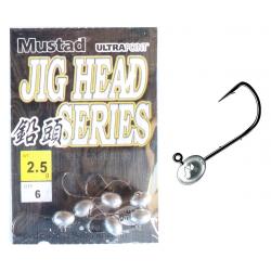 Jig Head 2,5Gr Pesca Spinning Trout Area Rock Fishing - Mustad